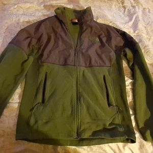 Grey And Green The Northface Fleece